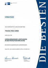 Urkunde Berufsausbildung 2012