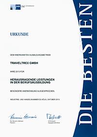 Urkunde Berufsausbildung 2013