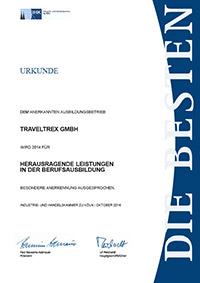 Urkunde Berufsausbildung 2014