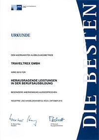 Urkunde Berufsausbildung 2015