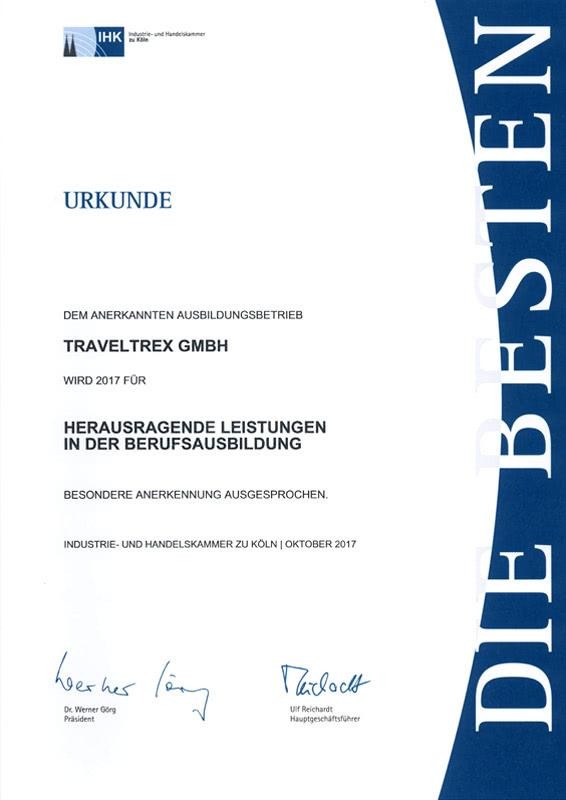 Urkunde Berufsausbildung 2017