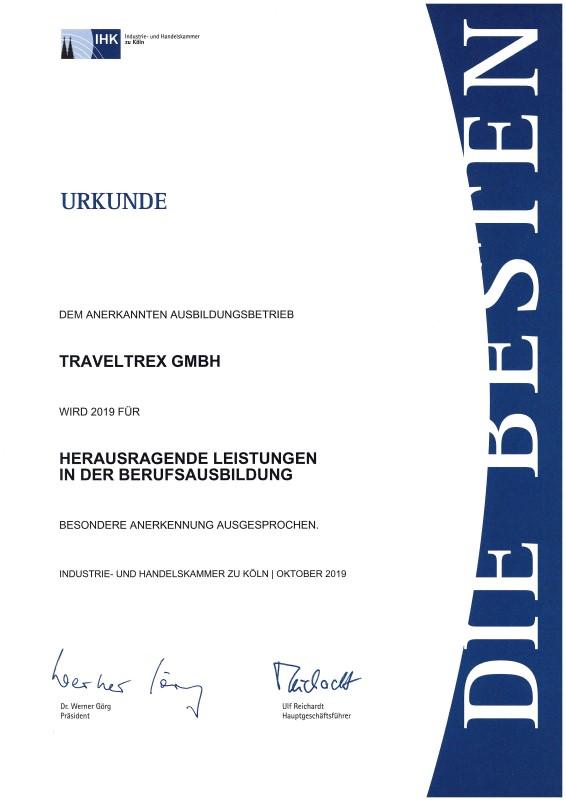 Urkunde Berufsausbildung 2019